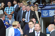 England Manager Sam Allardyce makes his way to his seat in the stands ahead of k/o. Premier league match, Everton v Stoke city at Goodison Park in Liverpool, Merseyside on Saturday 27th August 2016.<br /> pic by Chris Stading, Andrew Orchard sports photography.