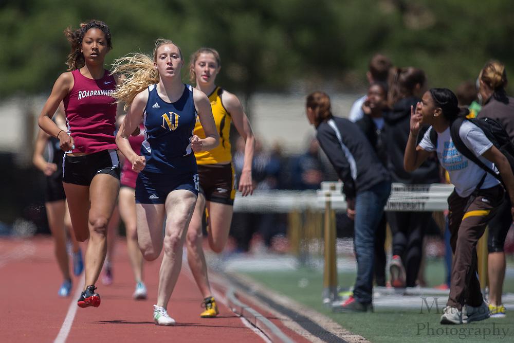 Women's 800 meters at the NJAC Track and Field Championships at Richard Wacker Stadium on the campus of  Rowan University  in Glassboro, NJ on Sunday May 5, 2013. (photo / Mat Boyle)