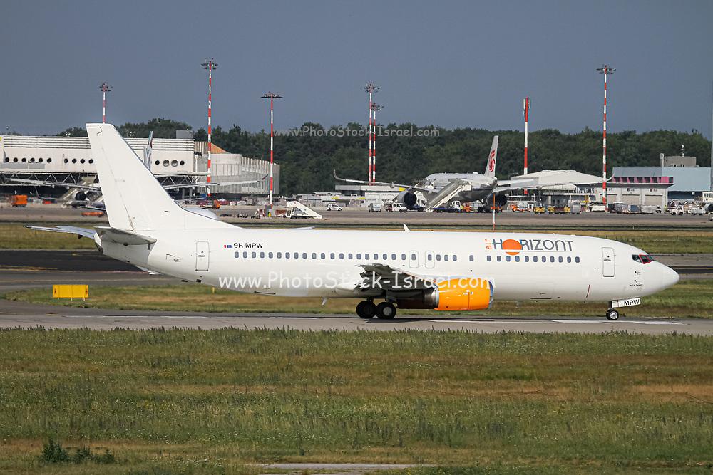 Air Horizont Boeing 737-400 (9H-MPW), ready for take off. at Malpensa (MXP / LIMC), Milan, Italy