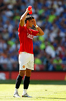 Photo: Richard Lane/Sportsbeat Images.<br />Manchester United v Chelsea. FA Community Shield. 05/08/2007. <br />United's Christiano Ronaldo cools down.