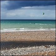 Kite surfer on the sea