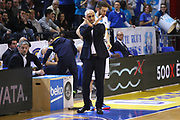 DESCRIZIONE : Cremona Lega A 2014-2015 Vanoli Cremona Dolomiti Energia Trento<br /> GIOCATORE : Cesare Pancotto Coach<br /> SQUADRA : Vanoli Cremona<br /> EVENTO : Campionato Lega A 2014-2015<br /> GARA : Vanoli Cremona Dolomiti Energia Trento<br /> DATA : 15/03/2015<br /> CATEGORIA : Coach Cambio<br /> SPORT : Pallacanestro<br /> AUTORE : Agenzia Ciamillo-Castoria/F.Zovadelli<br /> GALLERIA : Lega Basket A 2014-2015<br /> FOTONOTIZIA : Cremona Campionato Italiano Lega A 2014-15 Vanoli Cremona Dolomiti Energia Trento<br /> PREDEFINITA : <br /> F Zovadelli/Ciamillo