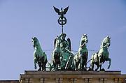 Duitsland, Berlijn, 22-8-2009Het vierspan op de Brandenburger Tor.Foto: Flip Franssen/Hollandse Hoogte
