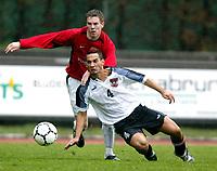 ◊Copyright:<br />GEPA pictures<br />◊Photographer:<br />Dominic Ebenbichler<br />◊Name:<br />Gibson<br />◊Rubric:<br />Sport<br />◊Type:<br />Fussball<br />◊Event:<br />Europa Jugendcup 2004, internationaler U-17 Jugendcup, Nationalteam Oesterreich vs Manchester United<br />◊Site:<br />Bludenz, Austria<br />◊Date:<br />10/04/04<br />◊Description:<br />Darran Gibson (Manchester), Andre Asinger (AUT)<br />◊Archive:<br />DCSDE-100404708<br />◊RegDate:<br />10.04.2004<br />◊Note:<br />8 MB - KA/KA
