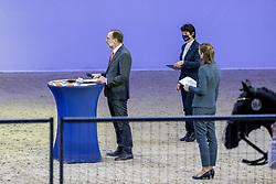 Jury Dressuurhengsten, Rutten Bert, Dorresteijn Marian, Hamminga Johan, Dröge Floor<br /> KWPN Hengstenkeuring 2021<br /> © Hippo Foto - Dirk Caremans<br />  04/02/2021
