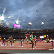 The start of the Women's 400m Hurdles Semi Final at the Olympic Stadium, Olympic Park, during the London 2012 Olympic games. London, UK. 6th August 2012. Photo Tim Clayton