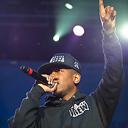 COLUMBIA, MD - May 11th,  2013 -   Kendrick Lamar performs on the Main Stage at the 2013 Sweetlife Music and Food Festival at Merriweather Post Pavilion in Columbia, MD.  (Photo by Kyle Gustafson/For The Washington Post)