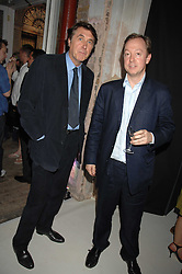 Left to right, BRYAN FERRY and GEORDIE GREIG at the Tanqueray No.TEN cocktail party held at No1 Piazza, Covent Garden, London on 10th June 2008.<br /><br />NON EXCLUSIVE - WORLD RIGHTS