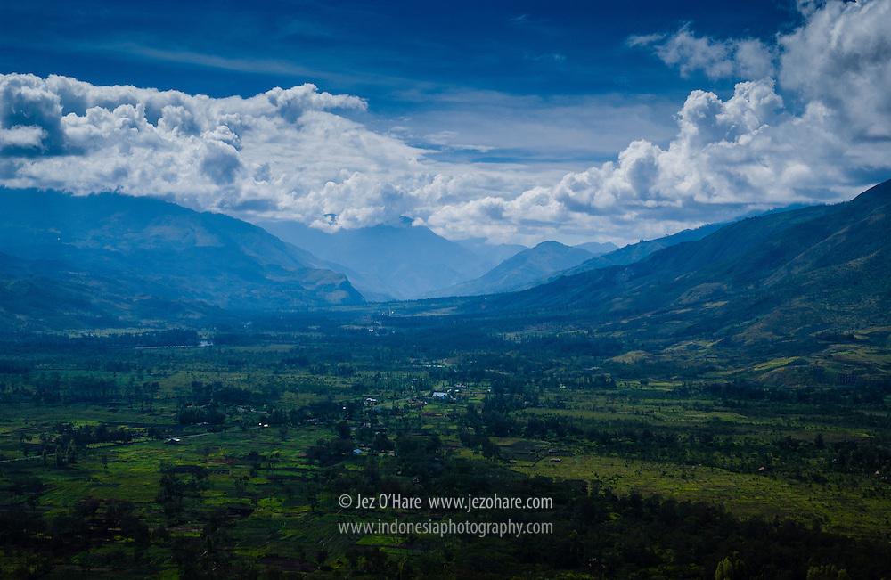 Hetigima - Kurima area, South of Wamena, Baliem valley, Kabupaten Jayawijaya, Papua, Indonesia.