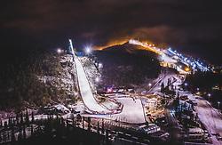 THEMENBILD - der Wintersportort Ruka mit der Skisprungschanze Rukatunturi, aufgenommen am 24. November 2018 in Ruka, Finnland // The winter sports resort Ruka with the ski jump Rukatunturi, Ruka, Finland on 2018/11/24. EXPA Pictures © 2018, PhotoCredit: EXPA/ JFK