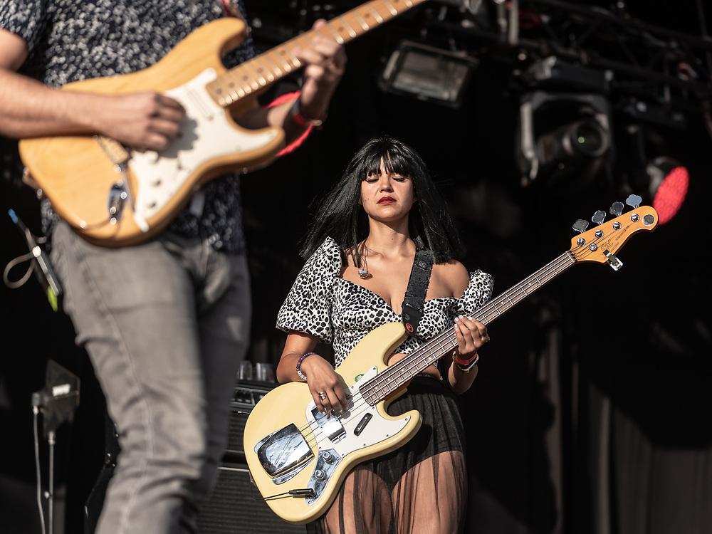 Laura Lee of American psychedelic-funk band Khruangbin at Haldern Pop Festival