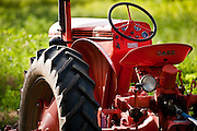 A vintage Case tractor at Bell Organic Gardens in Sandy Utah.