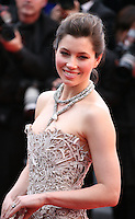 Actress Jessica Biel at the The Coen brother's new film 'Inside Llewyn Davis' red carpet gala screening at the Cannes Film Festival Sunday 19th May 2013
