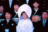 Japanese Wedding Party, Shimogamo Shrine, Kyoto, Japan