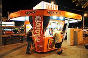 Israel, Haifa, a lottery booth