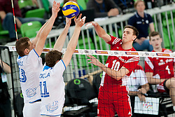 Mariusz Wlazly #10 of Poland during volleyball match between National teams of Slovenia and Poland in 4th Qualification game of CEV European Championship 2015 on May 23, 2014 in Arena Stozice, Ljubljana, Slovenia. Photo by Urban Urbanc / Sportida