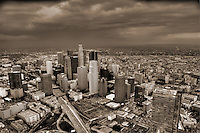 Downtown Los Angeles (Monochrome Aerial)