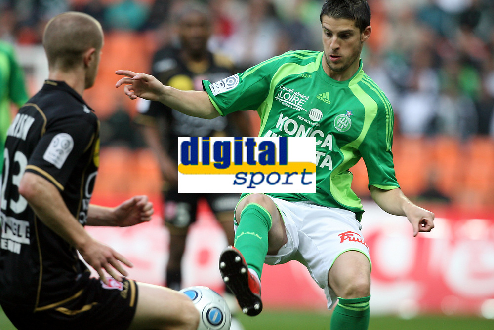 Fotball<br /> Frankrike<br /> Foto: DPPI/Digitalsport<br /> NORWAY ONLY<br /> <br /> FOOTBALL - FRENCH CHAMPIONSHIP 2008/2009 - L1 - AS SAINT ETIENNE v AS NANCY LORRAINE - 02/05/2009 - KEVIN MIRALLAS (ASSE)