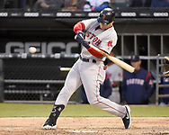 CHICAGO - MAY 04:  Andrew Benintendi #16 of the Boston Red Sox bats against the Chicago White Sox on May 4, 2019 at Guaranteed Rate Field in Chicago, Illinois.  (Photo by Ron Vesely)  Subject:  Andrew Benintendi