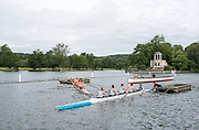 """Henley on Thames, United Kingdom. 2016 Henley Masters' Regatta. Henley Reach. England. on Saturday  09/07/2016   [Mandatory Credit/ Peter SPURRIER/Intersport Images]<br /> <br /> """" A littlr Tangle"""". Rowing, Henley Reach, Henley Masters' Regatta.<br /> <br /> General View,  Henley Reach, venue, for the 2016 Henley Masters Regatta."""