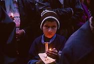 Romania. Easter in St john the new, church        / pâques église st jean le nouveau . suceava  Roumanie messe du jeudi de paques / L940429a  / P0000932