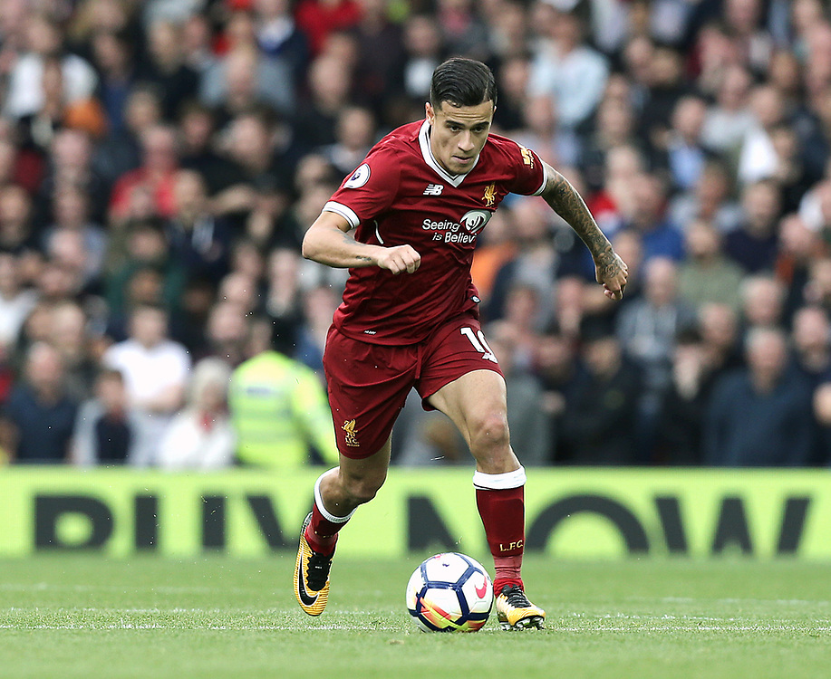 Liverpool's Philippe Coutinho<br /> <br /> Photographer Rich Linley/CameraSport<br /> <br /> The Premier League - Liverpool v Manchester United - Saturday 14th October 2017 - Anfield - Liverpool<br /> <br /> World Copyright © 2017 CameraSport. All rights reserved. 43 Linden Ave. Countesthorpe. Leicester. England. LE8 5PG - Tel: +44 (0) 116 277 4147 - admin@camerasport.com - www.camerasport.com
