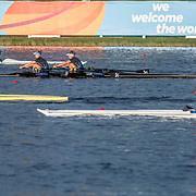 Jackie Kiddle and Zoe McBride New Zealand Womens Lightweight Double Scull pre race training <br /> <br /> Semi-Finals races at the World Championships, Sarasota, Florida, USA Friday 29 September 2017. Copyright photo © Steve McArthur / Rowing NZ
