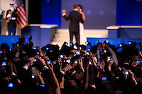 Cameras photograph President Barack Obama and his wife Michelle as they dance at the Western Ball held at the DC Conventon Center in Washington, D.C., Tuesday, January 20, 2009.