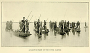 Barotse [Lozi people] Fleet on the Upper Zambezi From the book ' Missionary travels and researches in South Africa ' by Livingstone, David, 1813-1873; Arnot, Fred. S. (Frederick Stanley), 1858-1914; Published in London by J. Murray in 1899