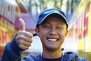 Japan, Tokyo Smiling Japanese man