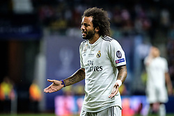 August 15, 2018 - Tallinn, Estonia - Marcelo of FC Real Madrid in action at UEFA Super Cup 2018 in Tallinn..The UEFA Super Cup 2018 was played between Real Madrid and Atletico Madrid. Atletico Madrid won the match 4-2 during extra time after and took the trophy after drawing at 2-2 during the first 90 minute of game play. (Credit Image: © Hendrik Osula/SOPA Images via ZUMA Wire)