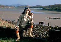 Actress Charlotte Rampling seen in Southern Ireland during the filming of 'the Purple Taxi' in which she starred alongside Fred Astaire. November 1976. Photographed by multi award winning photographer Terry Fincher.