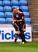 Photo: Leigh Quinnell.<br /> Coventry City v Ipswich Town. Coca Cola Championship.<br /> 19/11/2005. Jim Magilton congratulates Ian Westlake on his goal for Ipswich.
