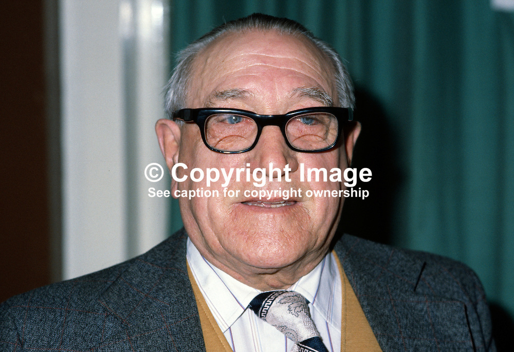 Colonel George Liddle, Chanterhill Road, Enniskillen, Co Fermanagh, N Ireland, UK, vice president, Ulster Unionist Party council. 198010000317.<br /> <br /> Copyright Image from Victor Patterson, 54 Dorchester Park, Belfast, UK, BT9 6RJ<br /> <br /> t: +44 28 9066 1296 (from Rep of Ireland 048 9066 1296)<br /> m: +44 7802 353836<br /> <br /> victorpattersonbelfast@gmail.com<br /> www.victorpatterson.com<br /> <br /> Please see my Terms and Conditions of Use at https://www.victorpatterson.com/page2<br /> It is IMPORTANT that you familiarise yourself with them.<br /> <br /> Images used online incur an additional cost and must be visibly watermarked i.e. © Victor Patterson within the body of the image and copyright metadata must not be deleted. Images used on the Internet have a size restriction of 4kbs and are chargeable at rates available at victorpatterson.com.<br /> <br /> This image is only available for the use of the download recipient i.e. television station, newspaper, magazine, book publisher, etc, and must not be passed on to any third party. It is also downloaded on condition that each and every subsequent usage is notified within 7 days to victorpattersonbelfast@gmail.com<br /> <br /> The right of Victor Patterson to be identified as the author is asserted in accordance with The Copyright Designs And Patents Act (1988). All moral rights are asserted.