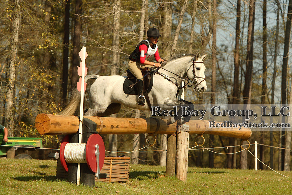 Lindsay Pearce (CAN) and James at Poplar Place Spring Horse Trials held in Hamilton, Georgia