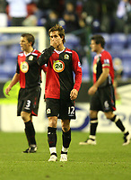 Photo: Paul Greenwood/Sportsbeat Images.<br />Wigan Athletic v Blackburn Rovers. The FA Barclays Premiership. 15/12/2007.<br />Reaction from Blackburn's Morten Gamst Pedersen as the team loose the game.
