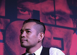 """September 27, 2016 - Los Angeles, California, U.S - Boxers Bonito Donaire in a press conference on September 27, 2016 in Los Angeles. Three action-packed world championship fights (NONITO DONAIRE VS. JESSIE MAGDALENO îSCAR VALDEZ VS. HIROSHIGE OSAWA ZOU SHIMING VS. PRASITAK PAPOEM) will act as co-main events to the MANNY Ã'PacmanÃ"""" PACQUIAO Ð JESSIE VARGAS World Boxing Organization (WBO) welterweight world title fight, Saturday, November 5, at the Thomas & Mack Center on the campus of the University of Nevada, Las Vegas. (Credit Image: © Ringo Chiu via ZUMA Wire)"""