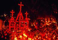 Night of the Dead (Noche de Muertos), November 1, Tzintzuntzan Cemetery, near Patscuaro, Michoacan, Mexico.
