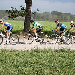 06-09H-2020: Wielrennen: Omloop Valkenswaard: Valkenswaard<br />(121) Huub Deelstra, (96) Maarten Vierhout, (44) GertJan Bosman, (17) Dennis van der Horst