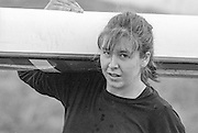 Staines, GREAT BRITAIN,   <br /> Fiona JOHNSON.<br /> British Rowing Women's Heavy Weight Assessment. Thorpe Park. Sunday 21.02.1988,<br /> <br /> [Mandatory Credit, Peter Spurrier / Intersport-images] 19880221 GBR Women's H/Weight Assesment Thorpe Park, Surrey.UK