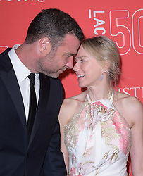 Liev Schreiber and Naomi Watts attends LACMA's 50th Anniversary Gala held at LACMA in Los Angeles, CA, USA on April 18, 2015. Photo by Hollywood Press Agency/ABACAPRESS.COM  | 496586_055 Los Angeles Etats-Unis United States