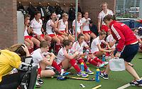 BREDA (Neth.)  England during half time during the match  New Zealand vs England U21 women . Volvo Invitational Tournament U21. COPYRIGHT KOEN SUYK