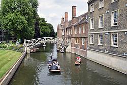 Punting River Cam, Cambridge UK July 2017