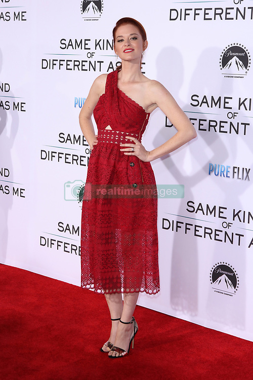 """Sarah Drew at the Paramount Pictures And Pure Flix Entertainment's """"Same Kind Of Different As Me"""" Premiere held at the Westwood Village Theatre on October 12, 2017 in Westwood, California, USA (Photo by Art Garcia/Sipa USA)"""