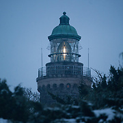 Hammer Knude light house. Salomon Hammer Trail Winter Edition is a first on Bornholm and is one of the toughest routes in Denmark. The 4 runs consist of a 50 mile run, a marathon, a 1/2 marathon and 10k all run a on an approximate 25km route which includes 860 meter vertical rise on the North East coast of the Danish island Bornholm. The cut-off time for the 50mile run was 16 hours and more than a hundred runners made it to the finishing line. The last runner across the line after 50 miles  was in after 15:14:40