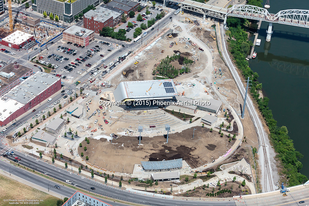 Aerial Photo Showing Construction Of The Ascend Amphitheatre In Nashville Tennessee