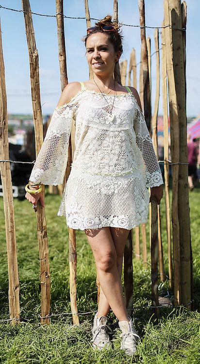 Street Fashion from Glastonbury Festival in Somerset  on Wednesday, 26 June 2013