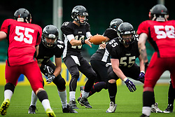 Kent Exiles quarter back - Mandatory by-line: Jason Brown/JMP - 27/08/2016 - AMERICAN FOOTBALL - Sixways Stadium - Worcester, England - Kent Exiles v East Kilbride Pirates - BAFA Britbowl Finals Day