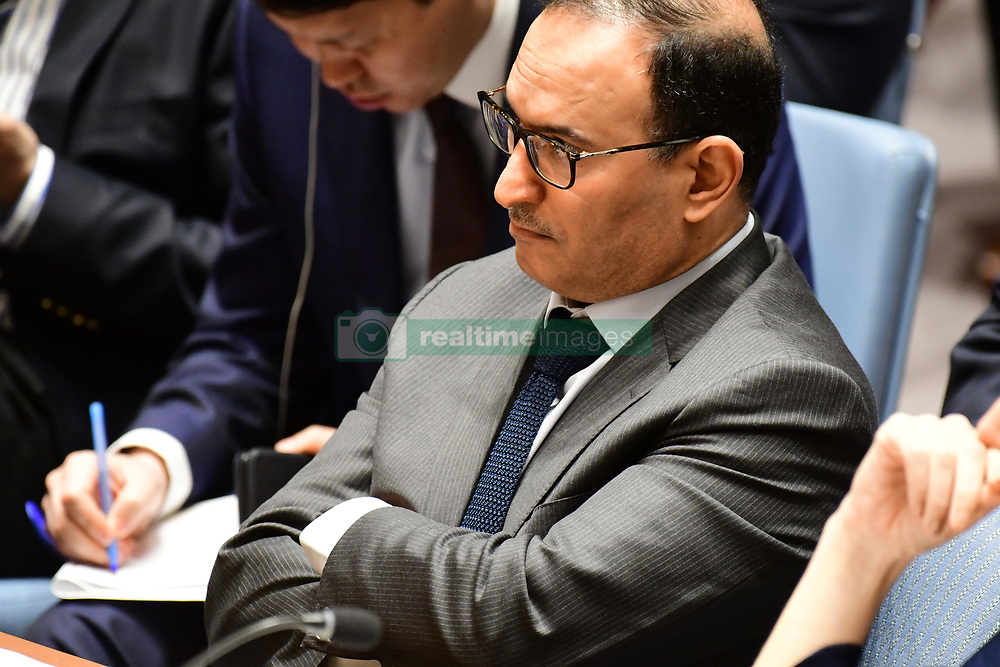 April 14, 2018 - New York City, NY, United States - The United Nations Security Council met in special session Saturday morning to debate US & allied air attacks against alleged Syrian government chemical weapons facilities. (Credit Image: © Andy Katz/Pacific Press via ZUMA Wire)