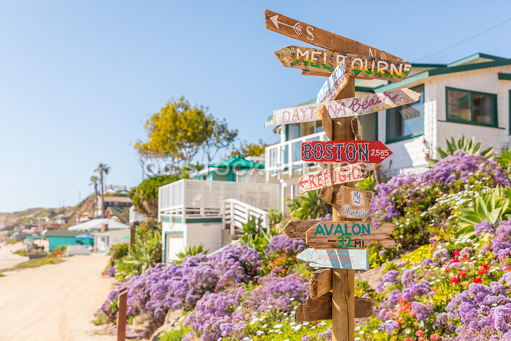 Creative Directional Signage at Crystal Cove Historic District